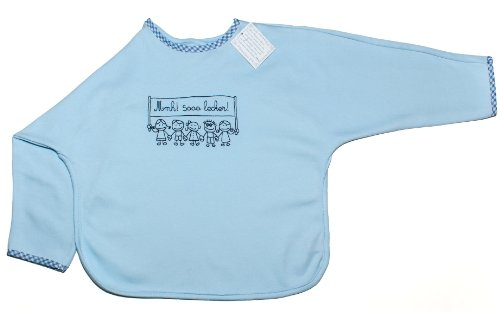 light-blue-baby-bib-for-boys-long-sleeve-100-cotton-cute-print-mmh-sooo-lecker-mmmh-soo-delicious-by