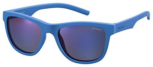 Polaroid pld 8018/s jy zdi, occhiali da sole unisex-bambini, blu (bluette/greyblmirror pz), 47