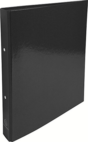 Exacompta 549291E Iderama Ringbuch (beschichteter Karton, A4, 30 mm, 2 Ringe) schwarz