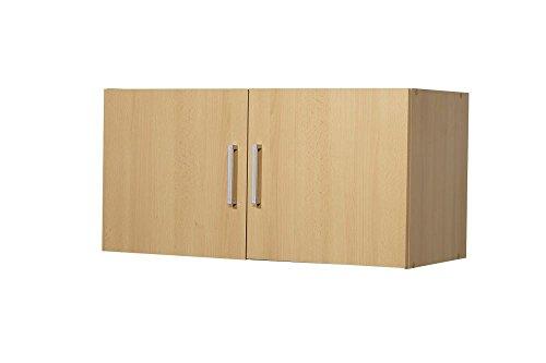 """Aufsatz-/Hängeschrank """"Veronika"""", Buche Dekor, 2 Türen, 80 x 40 x 39 cm, Funktionsschrank, Aufbewahrungsschrank"""