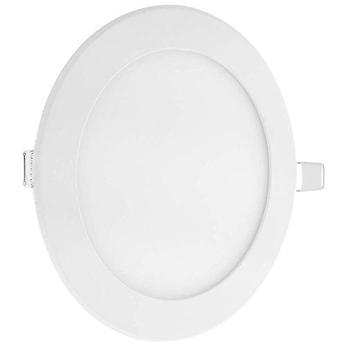 Cablematic - Panel LED circular downlight de 190mm 15W blanco cálido