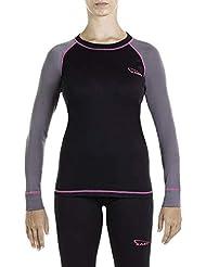 XAED, maglia da sci per strato base, da donna, colore Nero(Black/Anthracite/Fuchsia), Taglia S, intimo termico donna