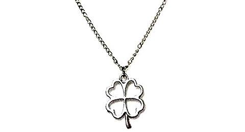 Halskette mit Symbol Quadrifoglio Grüße Geschenk-Idee