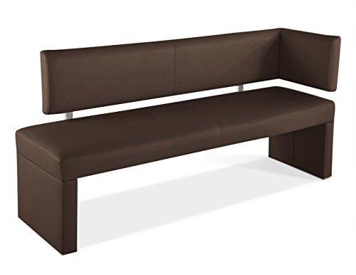 SAM® Ottomane Sitzbank Sabrina in braun 170 cm Bank komplett bezogen angenehme Polsterung Lieferung mit Spedition teilzerlegt