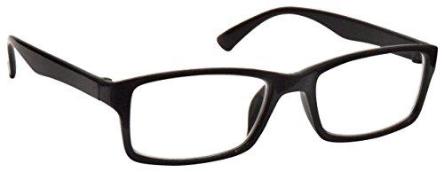 Die Lesebrille Unternehmen Schwarz Kurzsichtigkeit Entfernung Brille Herren Frauen UVM092BK Dioptrien -2,00