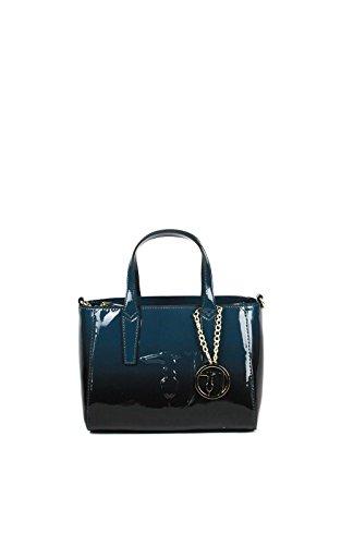TRUSSARDI JEANS - Borsa donna - Ischia tote lucido 75B578 (blu) Blu/Grigio