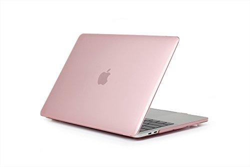 """13 """"MacBook Kunststoffgehäuse, Crystal Clear Hartschalenetui, Scratch Guard Abdeckung für MacBook Air Modell A1369 A1466 13 Zoll Keine CD-ROM Version 2017/2016/2015/2014/20132012/2011/2010/2009, Rosa"""
