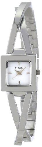 Titan Work Wear Analog White Dial Women's Watch 9852SM01