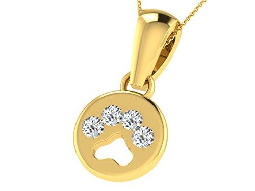 Fullcutdiamond   925  argento Rotonda   IJ Diamante