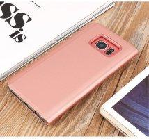 BCIT Samsung Galaxy S7 Edge Funda - Modelo inteligente Fecha   Hora Ver Espejo Brillante tir  n del caso duro Con para el Samsung Galaxy S7 Edge - Ros