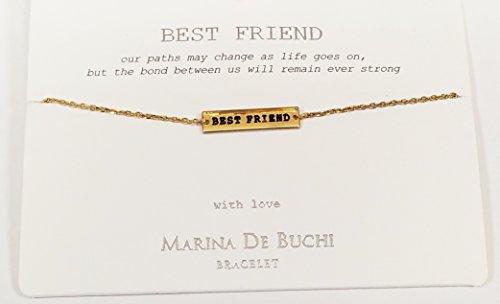 """Armband mit der Aufschrift """"BEST FRIEND"""" von Marina De Buchi, von Sterling Effectz vergoldet (Best Marine)"""