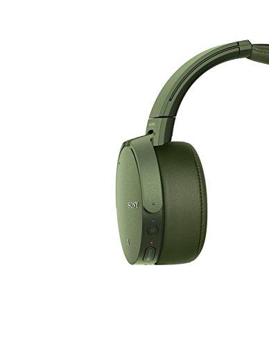 Sony MDR-XB950N1 kabelloser Kopfhörer mit Geräuschminimierung (Noise Cancelling, Extrabass, NFC, Bluetooth, faltbar) grün - 8