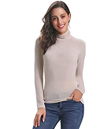 nuovi prodotti per bello economico scegli ufficiale Amazon.it: Maglia collo alto - Beige / Donna: Abbigliamento