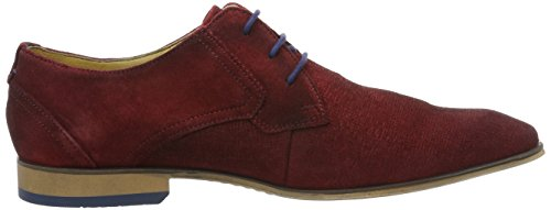 Bugatti 312101091400, Derbys Homme Rouge (Dark Red)
