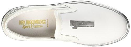 Bikkembergs Box 288 Slip On M Leather/Rubber, Pompes à Plateforme Plate Homme Blanc Cassé (Bianco)
