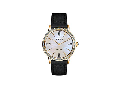 Eterna Eternity Lady Quartz Watch, PVD and Rosegold, Diamants, 32mm