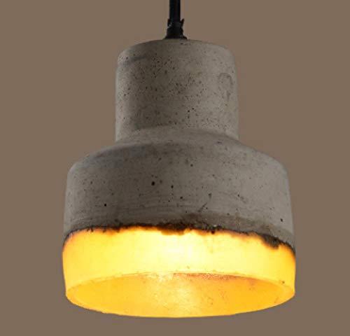 lzjyzkh Kronleuchter einzigen Kopf Zement Lampe Kaffee Restaurant Bartisch