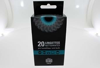 Offre Speciale 240 Lingettes Nettoyantes Lunettes et Smartphones (12 boites de 20 unites) soit 8cts l unite pre-humidifiees + anti-buee pour tout type de verres et ecrans tactiles