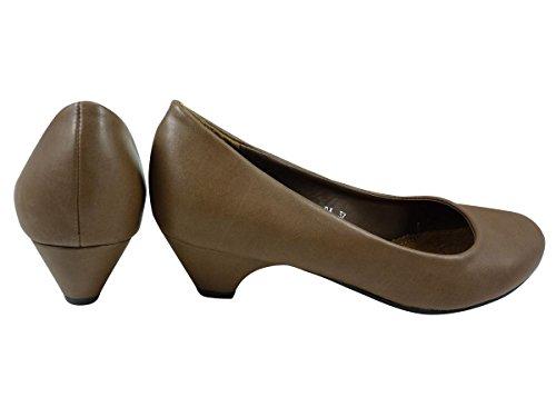 Chaussures Escarpins à petit talon similicuir Marron