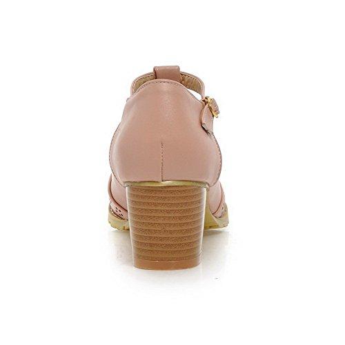 rotonda 1TO9 pompe in Pink fidanzamento motivo piedi Hollow Out Fibbia 67xT7qH