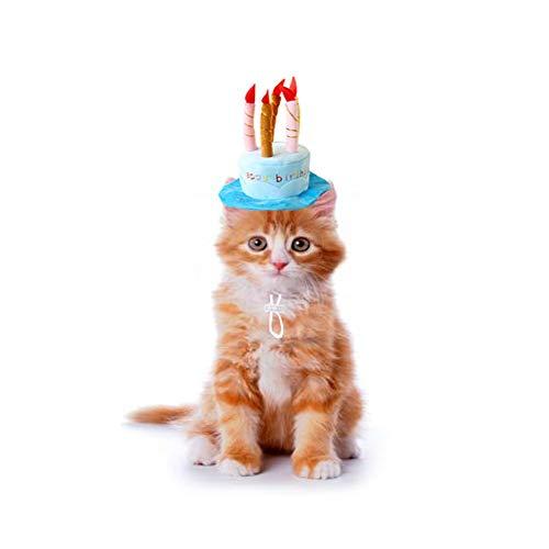 Bello Luna Sombrero de cumpleaños para Mascotas Sombrero de Felpa Corto Ajustable...