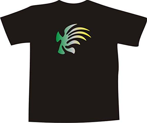 T-Shirt F1181 Schönes T-Shirt mit farbigem Brustaufdruck - Tribal Algen  Mehrfarbig