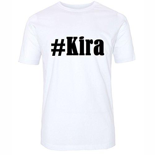 T-Shirt #Kira Hashtag Raute für Damen Herren und Kinder ... in den Farben Schwarz und Weiss Weiß