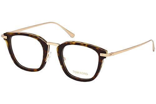 Tom Ford FT5496 Brillen 47-23-145 Braun Havana Mit Demonstrationsgläsern 052 TF5496 FT 5496 TF 5496