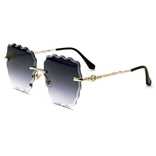 JWR Damenmode unendlich Sonnenbrillen Welle Ozean Blatt Strand Flut Brille lässig Sonnenbrille,D