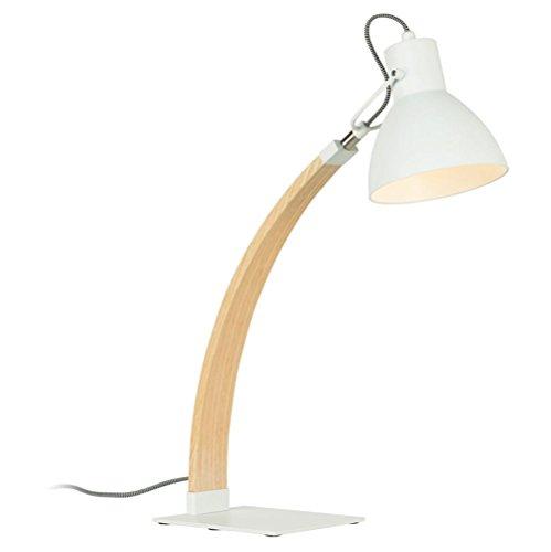 Atmko®Schreibtischlampe Tischleuchte Moderne hölzerne Schreibtisch-Lampe justierbare Winkel-kreative Tabellen-Lampen-Nachttischlampe mit Knopf-Schalter für Büro-Hauptlesestudium-Arbeit , B (Hölzerne Lampe)