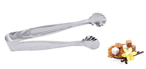 elegante Zuckerzange Würfelzange Zange Pralinenzange Universalzange mit Muscheldesign