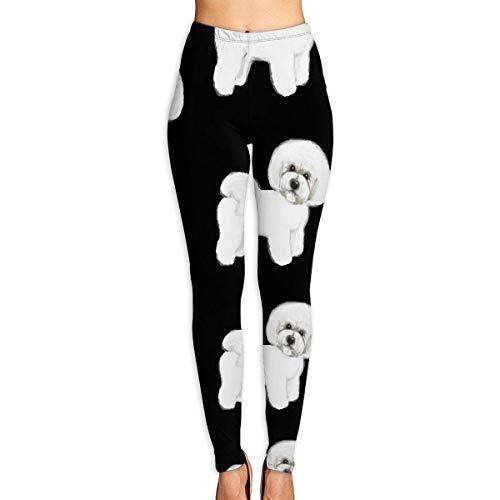 Deglogse Yogahosen, Trainingsgamaschen,Bichon Frise Yoga Pants for Women Sport Tights Workout Running Leggings