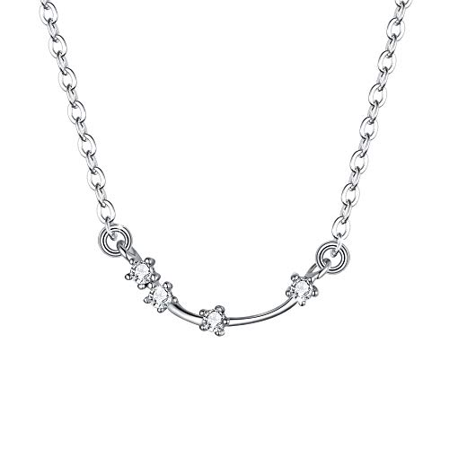 BriLove - Sterling-Silber 925 Sterling-Silber Rundschliff Farblos (Beste Original Paare Kostüme)