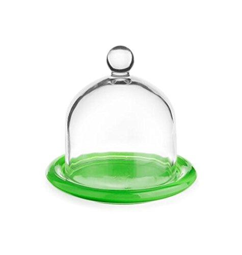 Capot Cloche en verre en verre avec variantes Citron 6 Assiettes Cloche oignon Cloche Verre Cathédrale vert
