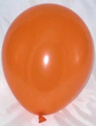 100 Stück Latex-Rundballon, orange, ca. 30 cm Ø, ca. 90/100 cm Umfang