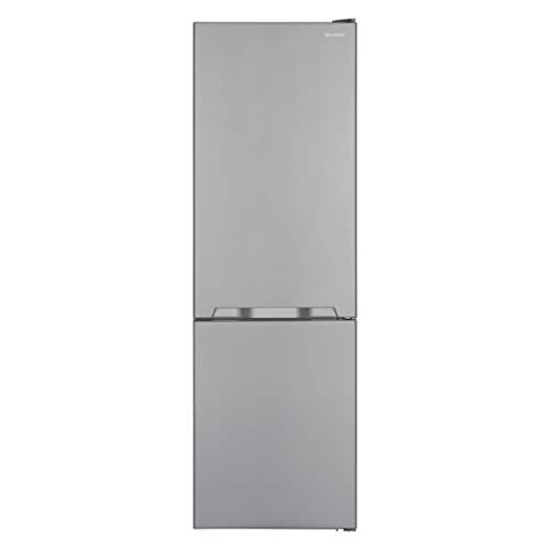 Sharp SJ-BA10IMXI2-EU Kühl-Gefrier-Kombination / A++ / Höhe 186 cm / Kühlteil 230 L / Gefrierteil 94 L / NoFrost / LED-Piktogramme / GentleAirFlow / Gemüseschubfach mit Feuchtigkeitsregler / Edelstahl