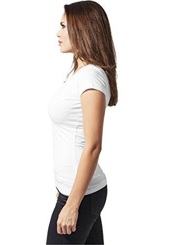 Urban Classics Ladies Basic Tee, T-Shirt Donna White