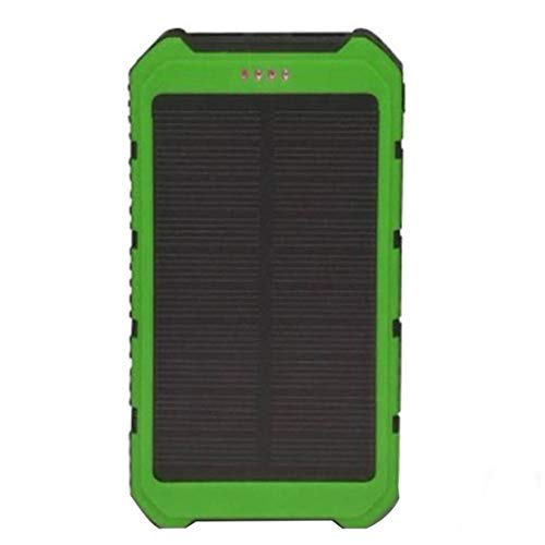 Solar Power Bank Tragbares Ladegerät Solar Phone Charger mit 2 Schnellladestationen USB-Anschluss Externer Akku für Android-Handys
