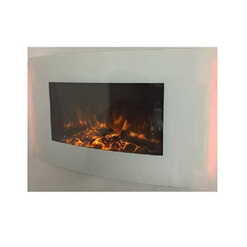 31kid9fW5pL. SS500  - 2019 TRUFLAME White Glass 7 Colour Changing LED Wall Mounted Log Effect Electric FIRE