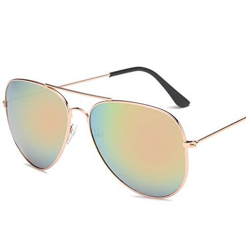 Outdoor Sonnenbrille Polarisierter Uv-schutz Aviator Unisex,anti Glare Sport Geeignet Für Wandern Radfahren-rose Gold Frame Kirschpulver 14.5x13.2cm(6x5inch)