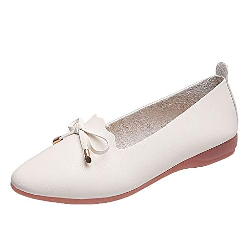 Morran Damen Annelie Geschlossene Ballerinas Casual Peas Single Schuhe Shallow Mouth Flat Bow Lazy Schuhe -