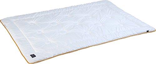 Pflegeleichte kühle Sommer-Bettdecke aus Mikrofaser, unkompliziert mit Füllung bei 60° waschbar, 200 x 220 cm