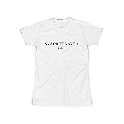 Frauen T-Shirt mit Aufdruck in Weiß Gr. S Todesfluch Bitch Magie Design Girl Top Mädchen Shirt Damen Basic 100{6e49830e5119c9ee44c9ca71be2244c11fbda612b487d0ca8d168bd25b051145} Baumwolle Kurzarm