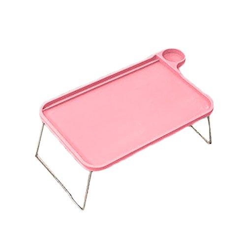 dexinghaoye tragbar faltbar Tablet Tisch Schreibtisch Computer Notebook Tablett Ständer für Bett Sofa, rose, 44.5cm x 29cm x 19cm (Approx.)