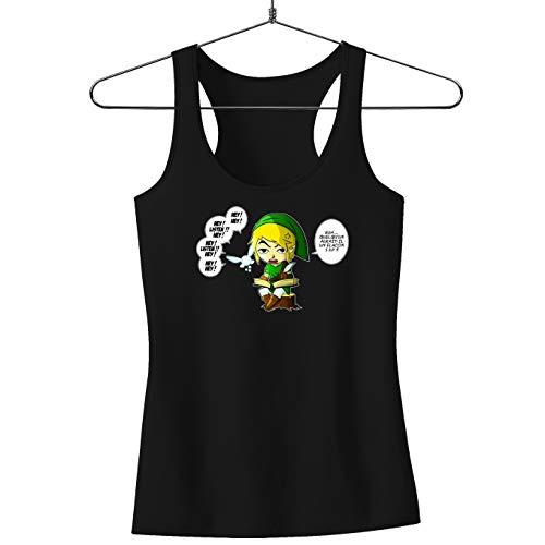 Okiwoki Débardeurs Noir (French Days) Zelda parodique Link et la Fée Navi : Une fée Pratique mais agaçante. (Parodie Zelda)