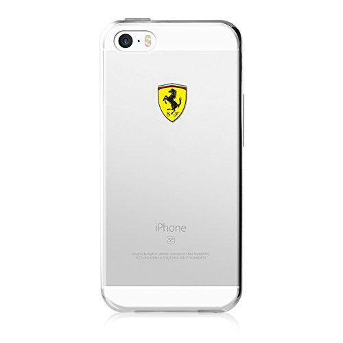 "Ferrari FECI018 Funda para teléfono móvil 10,2 cm (4"") Transparente - Fundas para teléfonos móviles (Funda, Apple, iPhone 5/5S/SE, 10,2 cm (4""), Trans"