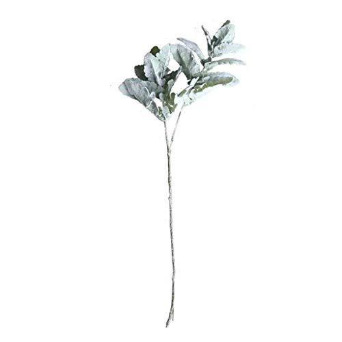 SCEMARK Kunstblume Blumenstrauß Haus Dekoration Hochzeitsstrauß Pflanzenwand gefälschte Blume Blumen Künstliche Blumen Seide Lamm-Ohr-Blatt Spray Greenery für Home Décor Hochzeit