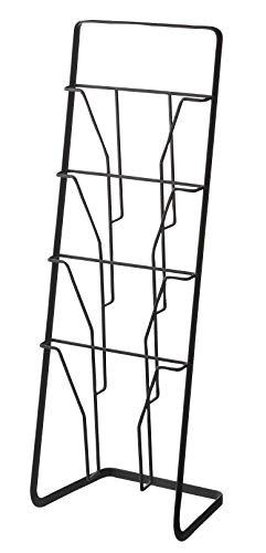 YAMAZAKI Tower Zeitschriftenständer, Stahl, Schwarz, One Size