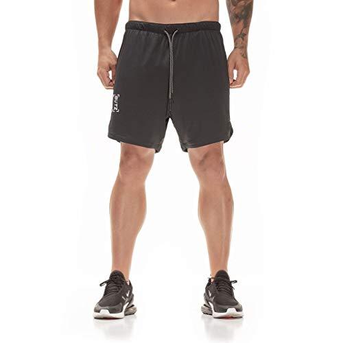 Knowin Shorts Männer Herren Mode Kausal Gym - Herren - Kurze Sport Hose - Fitness Loose Fit Shorts Sommersport Schlanke, Einfarbige Shorts Fitness Sportbergsteigen Langlauf Freizeit Pants -