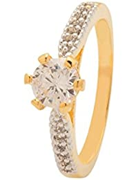 Voylla Traditional Gold Brass Ring For Women
